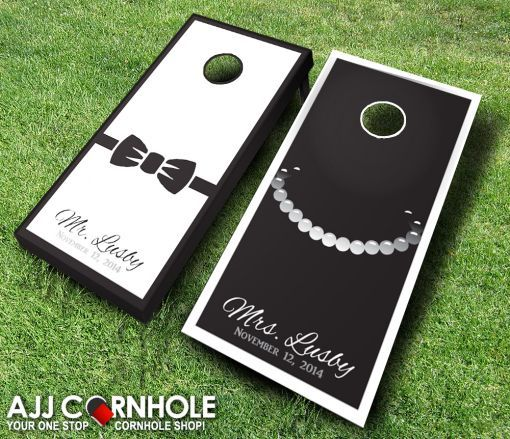 your guests will have so much fun at your wedding reception with custom cornhole sets - Corn Hole Sets