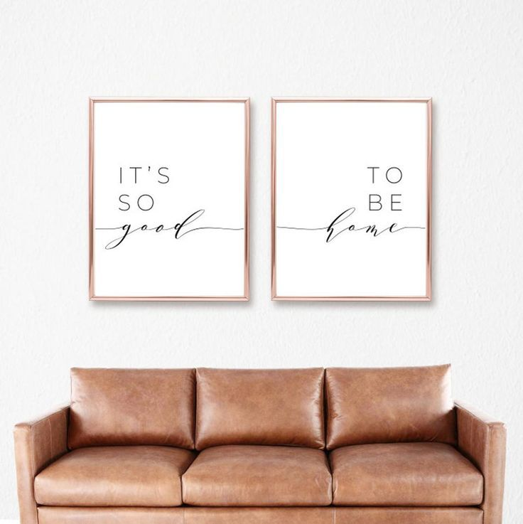It's So Good To Be Home Printable Sign Set, Bedroo…