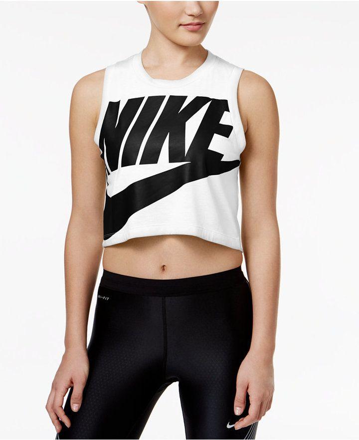 e60555058f0b25 Nike Sportswear Essential Cropped Tank Top