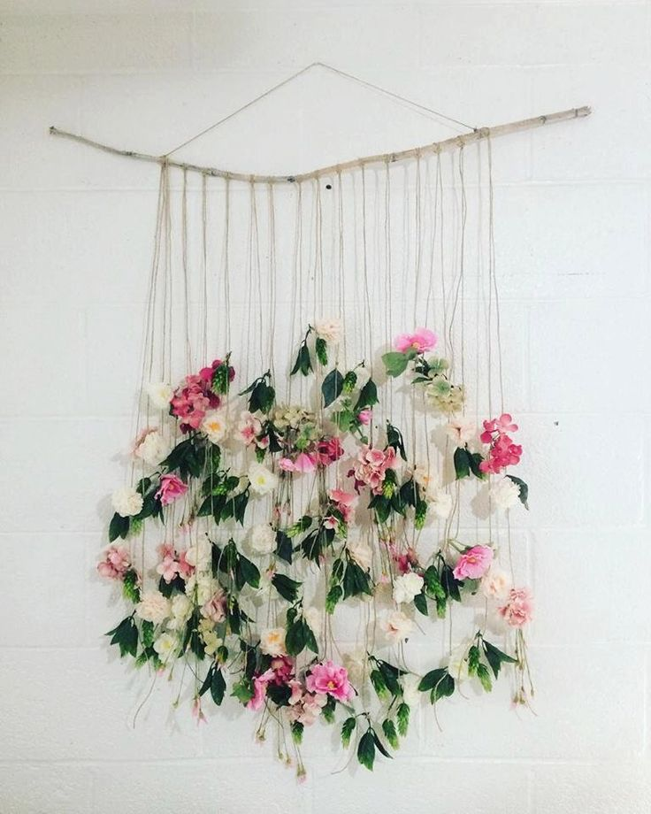 Boho Floral Wall Hanging by AUTUMNanIVY on Etsy https://www.etsy.com/listing/268717822/boho-floral-wall-hanging