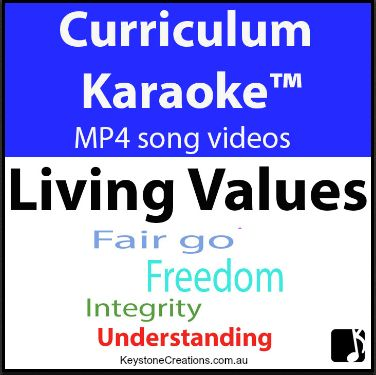 This whole school (K-12), anthem-style song highlights nine core values (The Government's Nine Values for Schools. • Not musical ~ NO worries! • Just download the MP4 song video and play on your classroom whiteboard or computer!   https://www.teacherspayteachers.com/Product/LIVING-VALUES-Curriculum-Karaoke-MP4-Song-lyrics-for-your-whiteboard-3223025