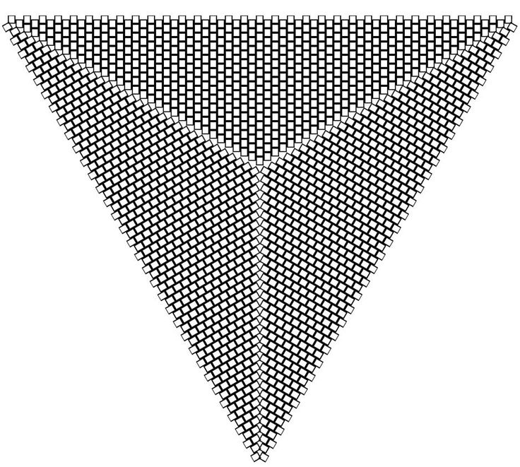 3 sided triangle peyote graph paper