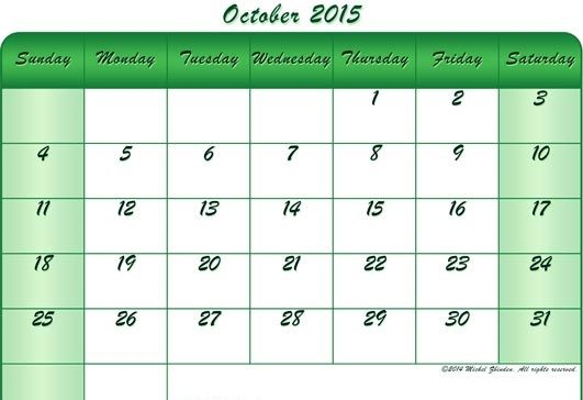 Printable Calendar 2015 October, To Print, Tumblr, Calendar Printable Pdf Pictures, Holidays, Events, Usa, Uk, America, Nz, Australia, Canada, Blank Pages