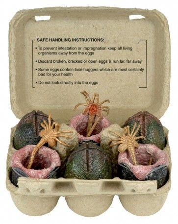 NECA Alien Xenomorph Egg Set in Collectible Carton http://www.amoktime.com/neca-alien-xenomorph-egg-set-in-collectible-carton.html