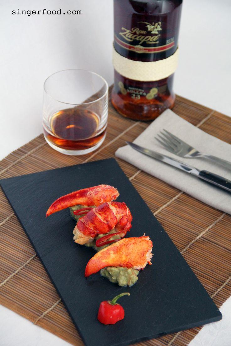 Astice con guacamole e peperoncino per ZACAPA 23 - http://www.singerfood.com/2014/05/astice-con-guacamole-e-peperoncino-per.html
