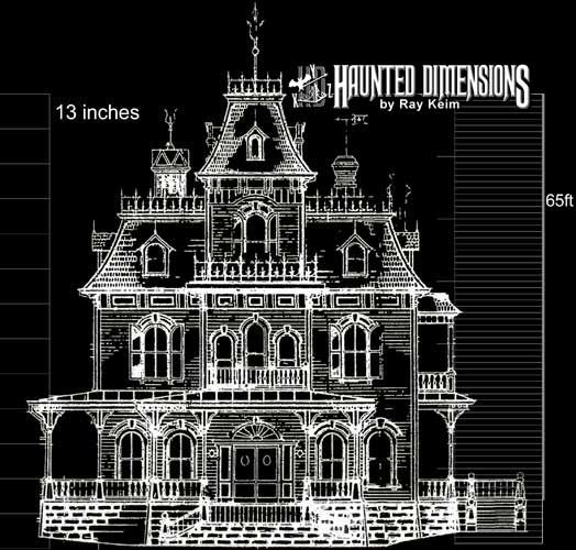 Haunted Mansion Blueprints | ... third, and final Haunted Mansion paper model kit, The Phantom Manor