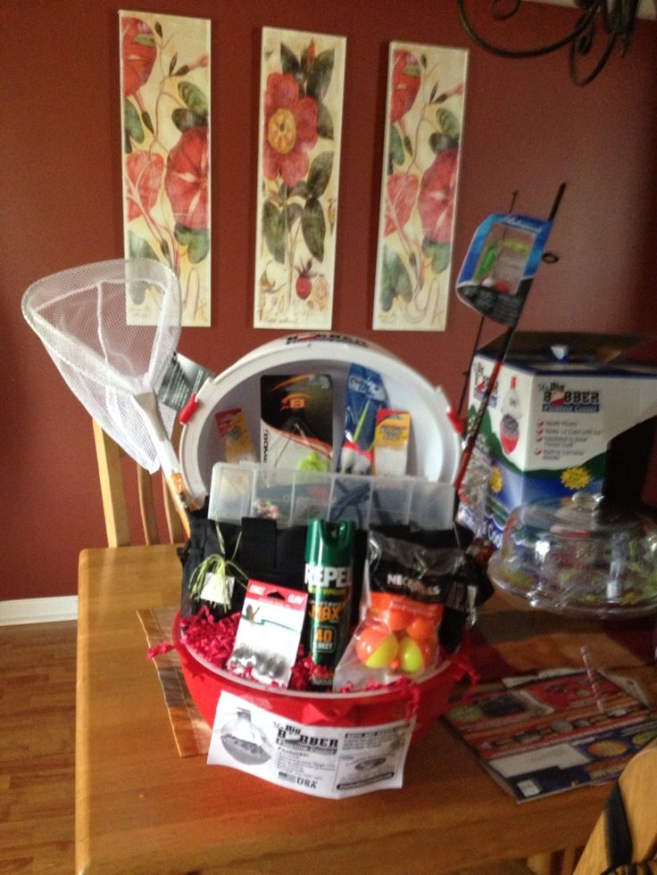 Fishing Basket I Made For A School Raffle Raffle
