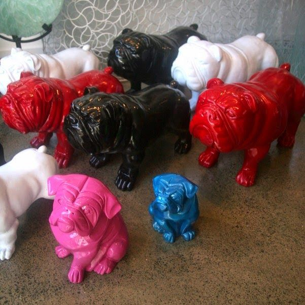 cute little pugs! #doggies #decor #dogs #cermaics #bold Shop Tour: My Eclectic Zone (MEZ) | Jafa Living