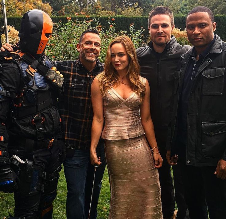 TH crew.. #CaityLotz #StephenAmell #DavidRamsey #Deathstroke #Arrow100