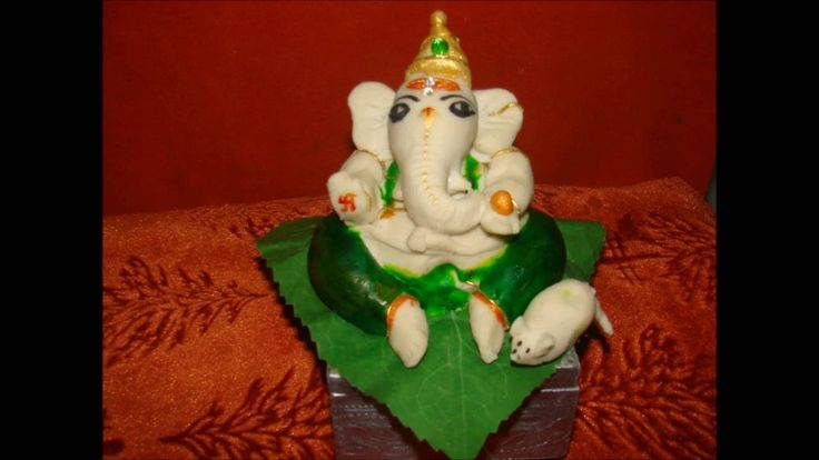 Making of Ganesh idol with Maida and rice flour (Eco friendly) at home