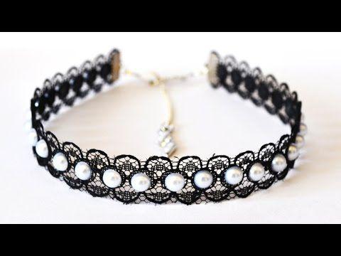 Красивое колье из акриловых и стеклянных бусин DIY Necklace from crystals beads - YouTube