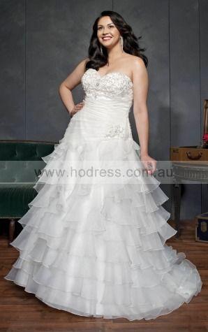Lace-up Chapel Train Ball Gown Empire Sweetheart Wedding Dresses hdcf1104--Hodress