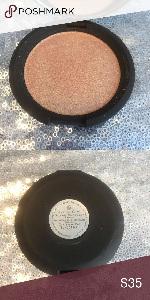 Becca champagne pop highlight - Jaclyn hill Swatched once, authentic of course BECCA Makeup Luminizer