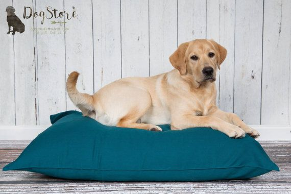 Dog bed, fits any household! Both you and your dog will love it. Cover size circa 100x70cm (40x28 inches). Will fit most dogs, up to the size of a Labrador. The cover is made from durable cotton canvas, and can be machine washed. It closes on the side with a zipper. Pillow insert is filled with polystyrene beads, to make for a very soft and durable dog bed.  These pillows are made to order, please allow up to three weeks for me to finish your order.  Want a different sized pillow? Please…