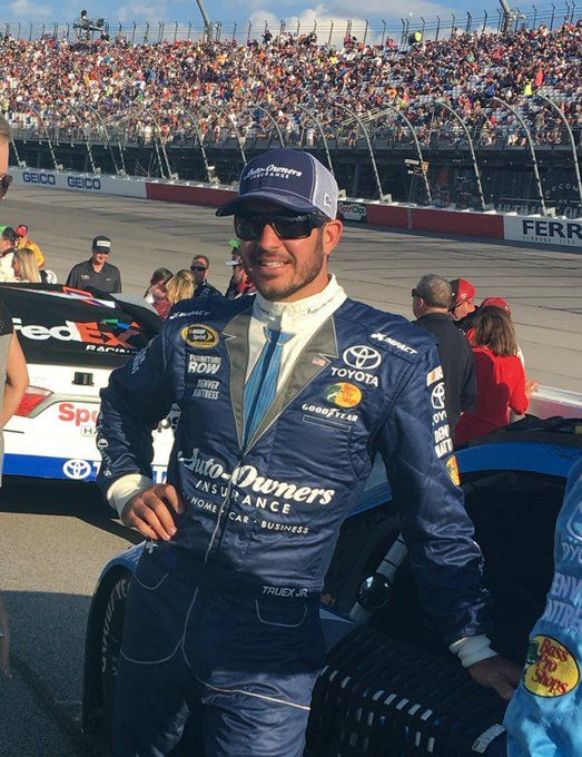 Retro firesuit for Truex, winner at Darlington.