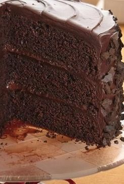 """All-the-Stops"" Chocolate Cake Recipe ~ Rrich chocolate cake coated with crunchy cookie crumbs"