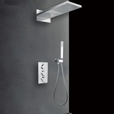 Laiton 55 * 23cm Finition Chrome pommeau de douche HB53B