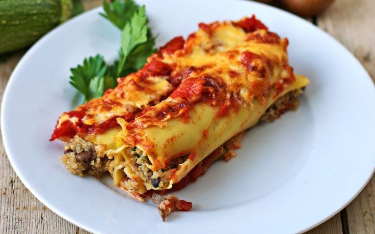 This version of VEGAN cannelloni al Forno is just as cheesy and deliciously savory as the original, but it's completely dairy-free!