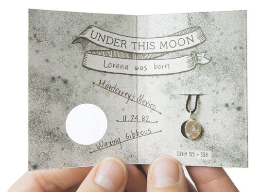 UNDER THIS MOON / Bracelet - Customized lunar phase charm of your special night in silver and silk, astronomy, black, red, crescent