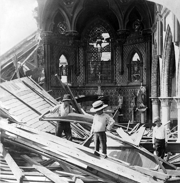 Aftermath of the 1900 Galveston hurricane.