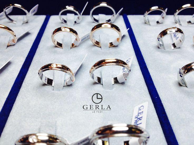 Fedi nuziali in oro bianco, giallo, rosa?  Con brillantino? Ce ne sono per tutti i gusti! #fedi #nuziali #matrimonio #fedigerla #wedding