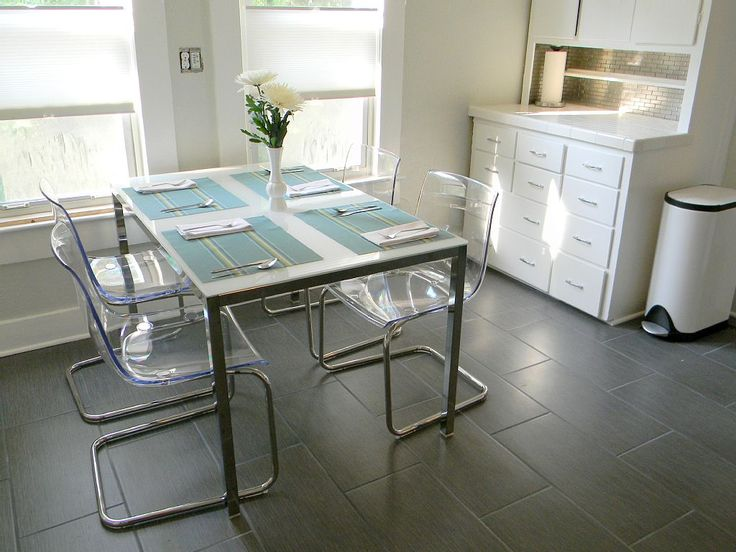 First Star SW 7646 Sherwin Williams Gray Paint Color Ikea TORSBY Table And TOBIAS Chairs