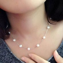 N981 Cadena Mujer Joyería Carboneros Simulado Collar de Perlas de Joyería Nupcial Regalos de Boda Collares Collares Mujer Blanca(China (Mainland))