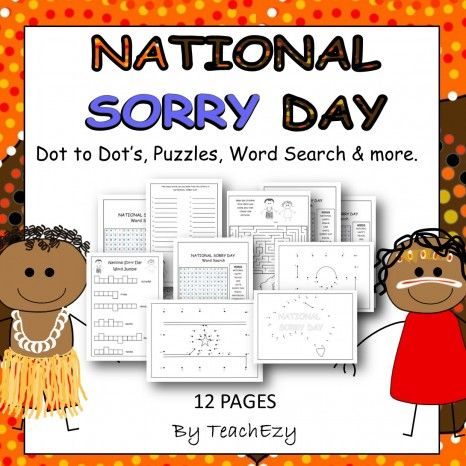 Sorry Day Puzzle Activities