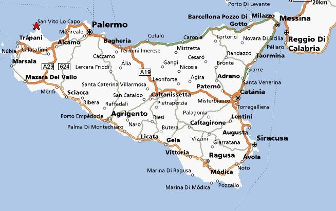 map of palermo italy sicily - photo#9