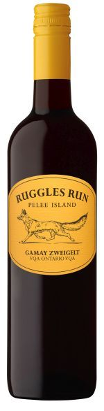 A new look and name to our Gamay Noir Zweigelt  Welcome Ruggles Run to Pelee Island Winery.   2015 Ruggles Run Gamay Noir Zweigelt  Alcohol: 13.5%  Sugar Code: (0)  Residual Sugar: 11.8 G/L  Grape(S): 51% Gamay Noir/ 49% Zweigelt  AVAILABLE IN 750 ML BOTTLES (PRODUCT # 216028) AVAILABLE IN 1500 ML BOTTLES (PRODUCT # 294260)   Beaujolais style red wine  Excellent introductory red wine  Smooth and palatable  VQA Ontario  TASTING NOTES: Deep red in colour. The appealing fruitiness of Gamay…