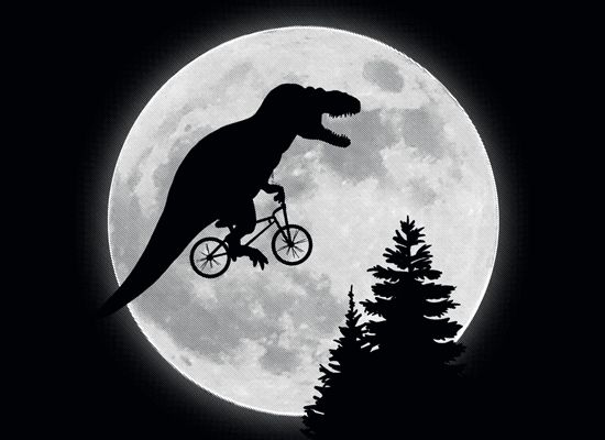 T-Rex Moon T-Shirt (Large)