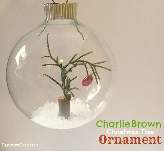 Charlie Brown Christmas Tree Ornament...a cabin in the woods and still a Charlie brown christmas tree :)