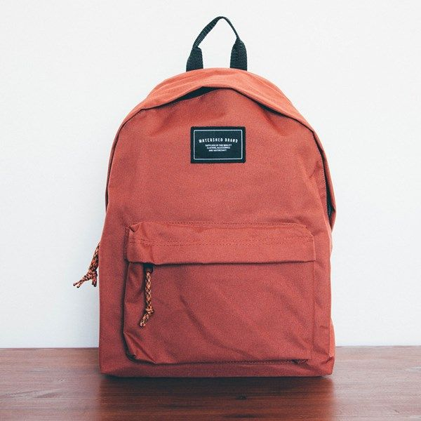 rust coloured backpack