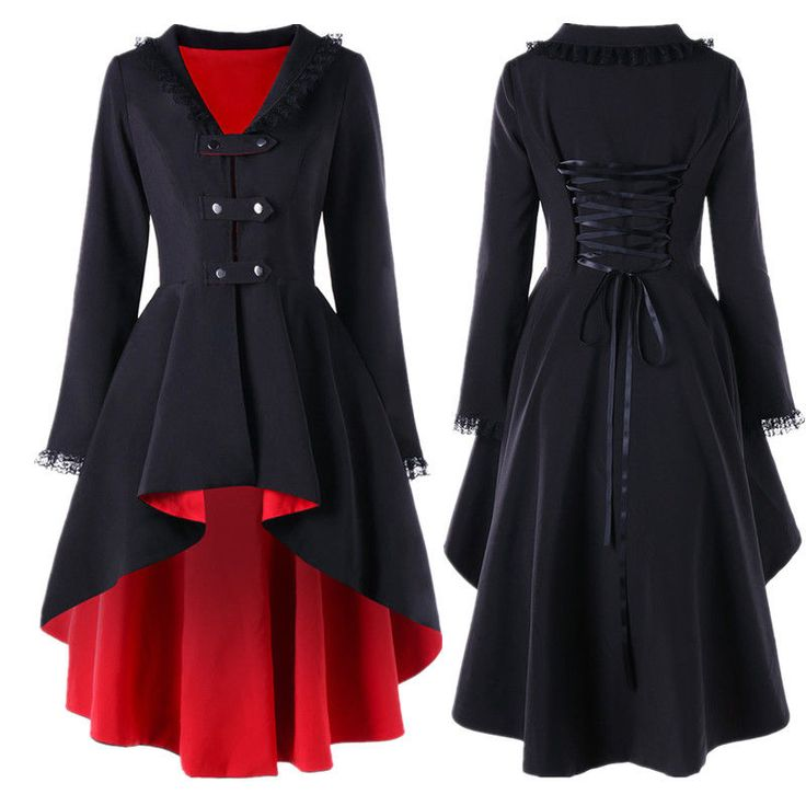 VICTORIAN STYLE WOMEN ELEGANT SLIM LONG TRENCH COAT JACKET RETRO Gothic JACKET #ZAFUL #Blazer