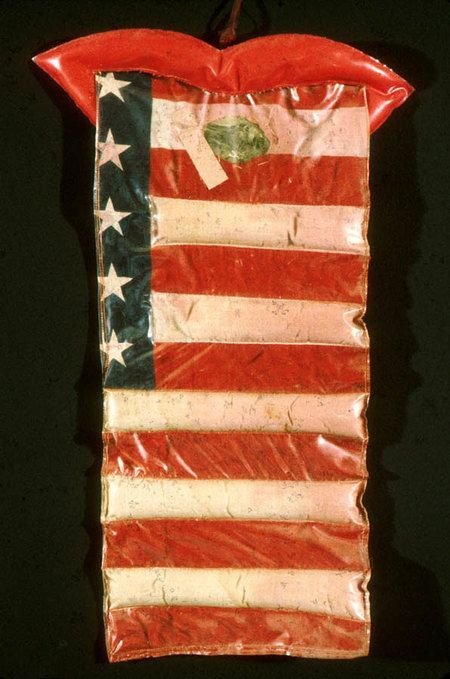 """During the 1960s Wieland also became more concerned with politics, nationalism, and activism. Joyce Wieland, Betsy Ross, """"Look What They've Done to the Flag You Made with Such Care,"""" 1966, private collection. #ArtCanInstitute"""