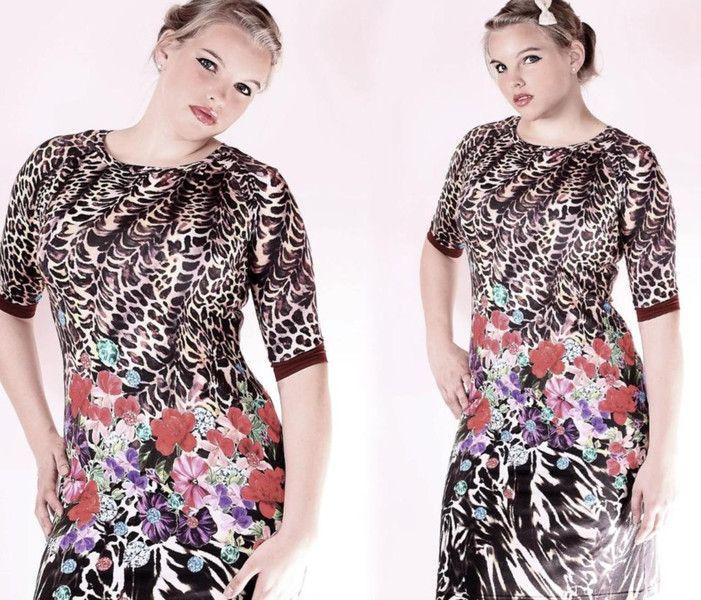Stretchkleider - NARA® Weibliches  Sommerkleid geblümt - ein Designerstück von Berlinerfashion bei DaWanda