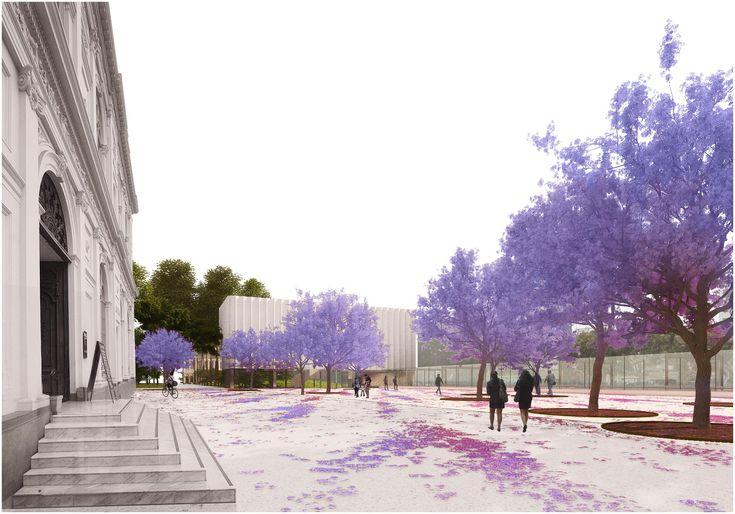 Primer Lugar concurso ampliación nueva ala del MALI / Burgos & Garrido AA + LLAMA Urban Design
