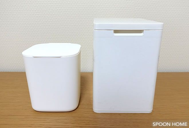 100均セリア 1dpダストボックス の収納アイデア ミニサイズでおしゃれなデザイン 収納 アイデア 収納術 クローゼット 浴室 収納