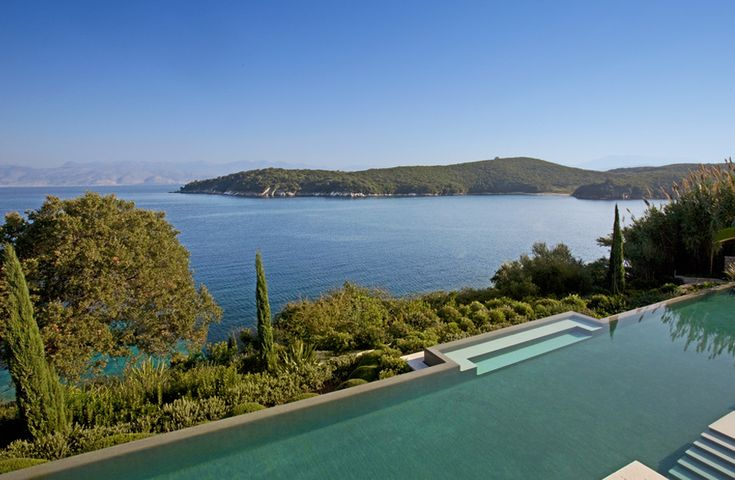 Amarea, Avlaki and Coyevinas - Sleeps 8. The views from the exceptional swimming pool are breathtaking, the design and décor of the house are exquisite, and the seafront setting of this sumptuous luxury villa is unrivalled.