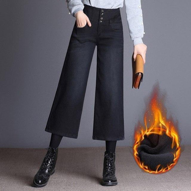 High Waist Wide Leg Jeans Woman Loose Office Work Wear Plus Size Ankle Length Pants Denim Jeans Trousers Befr Pantalones Hasta Los Tobillos Piernas Anchas Ropa