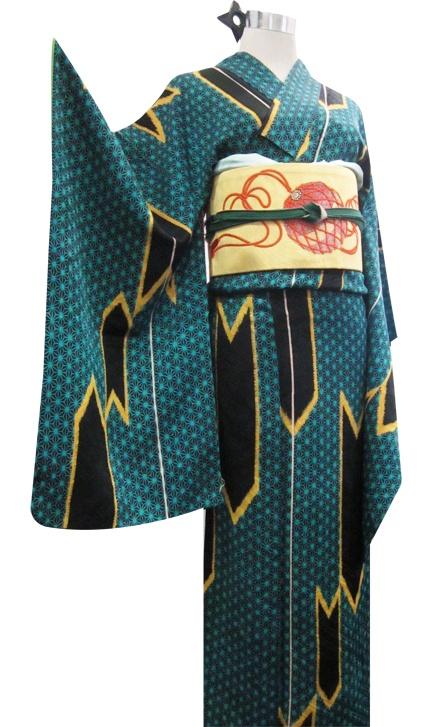 kimono pattern : Yabane, Asano-ha
