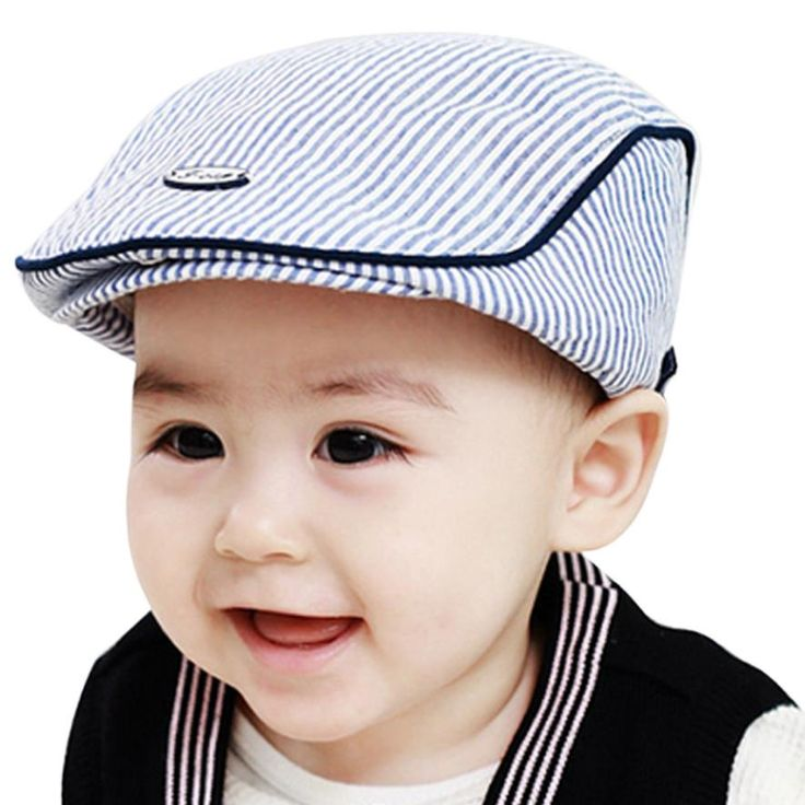 baby photography accessories Cute Baby Infant Boy Girl Stripe Cap Peaked Baseball Hat baby bonnet kids winter hats free shipping