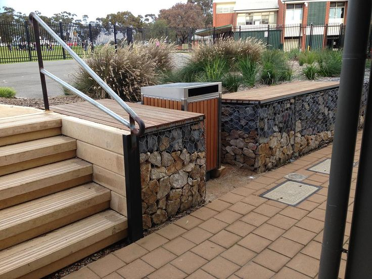 24 best deck garden images on pinterest gabion wall for Retaining wall contractors adelaide