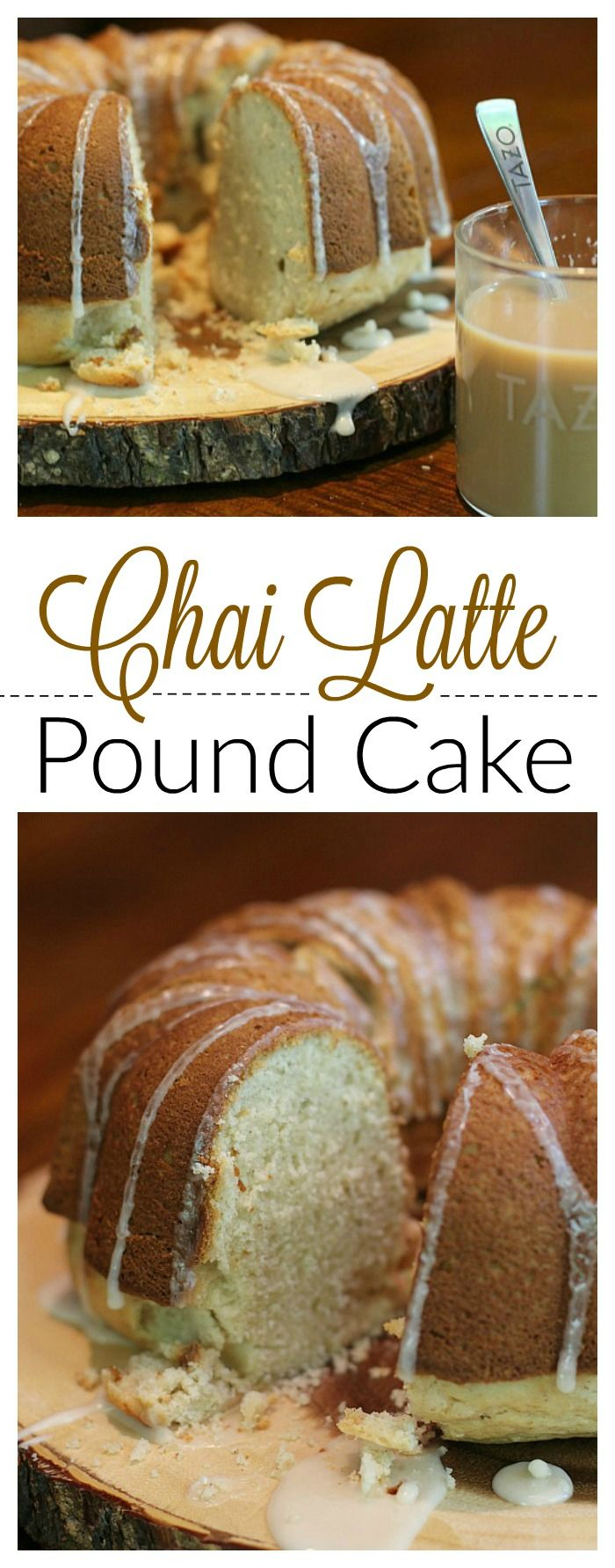 This Chai Latte Pound Cake pairs perfectly with a cup of #ChaiLatte made from…