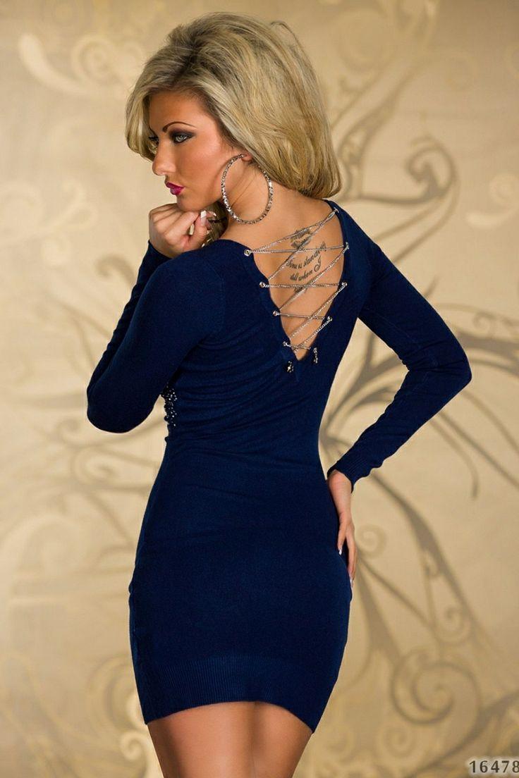 Rochie DeeplySilver DarkBlue  >> Click pe poza pentru a vedea pretul. #rochii #rochiideseara #fashion #dress #rochiideocazie