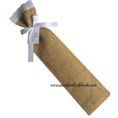 Funda para abanico con bordado blanco varios tamaños | Mis Detalles de Boda