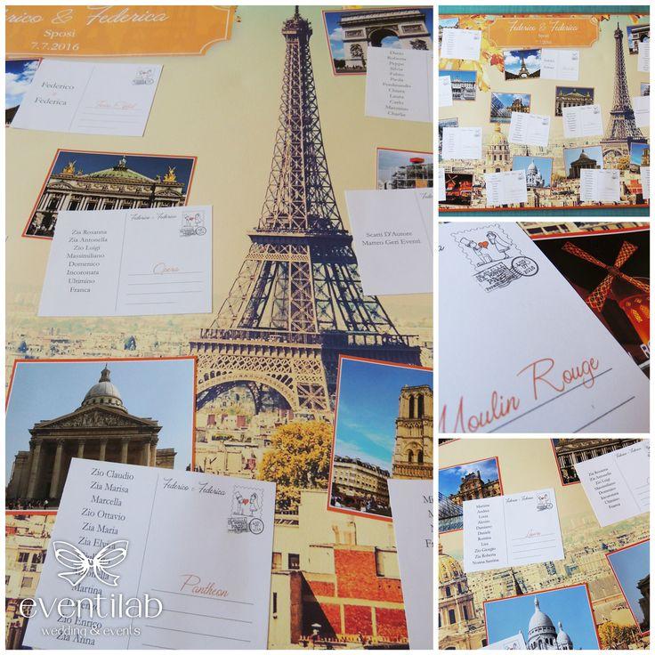 #Paris #Tableau de Mariage. Designed by eventilab.it  Tableau matrimonio tema #Parigi. Realizzato da eventilab.it