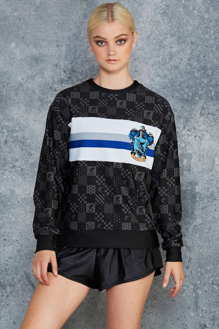 Ravenclaw Spliced Sweater ($120AUD) by BlackMilk Clothing