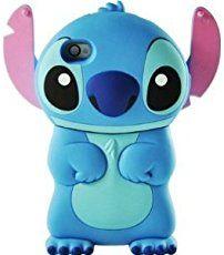 Coque Housse Etui en Silicone Pour Iphone 4 / 4S - Lilo & Stitch - Bleu