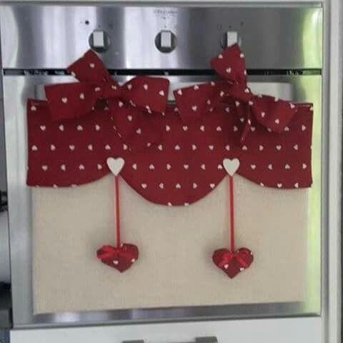 Copri forno cuoricini rossi